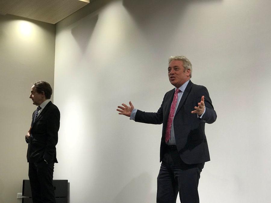 John Bercow MP with University of Buckingham Vice Chancellor Anthony Seldon