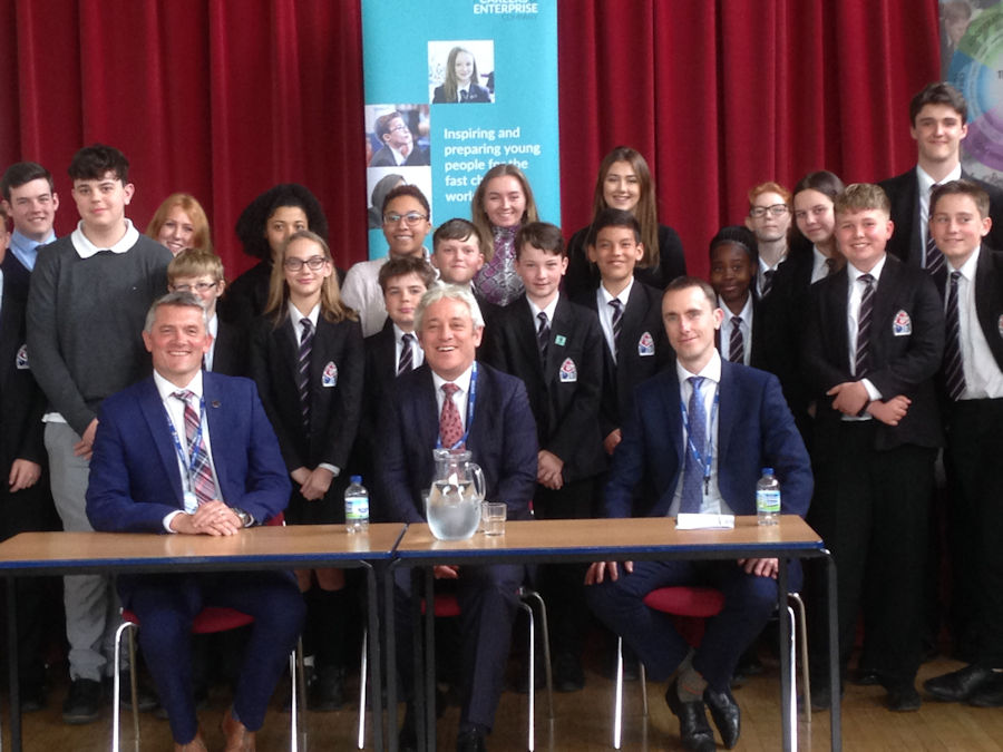 John Bercow MP visits The Cottesloe School, Wing