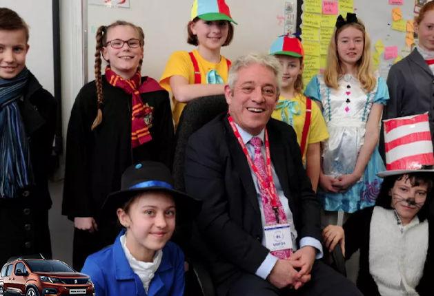 John Bercow visits Winslow CofE School on World Book Day